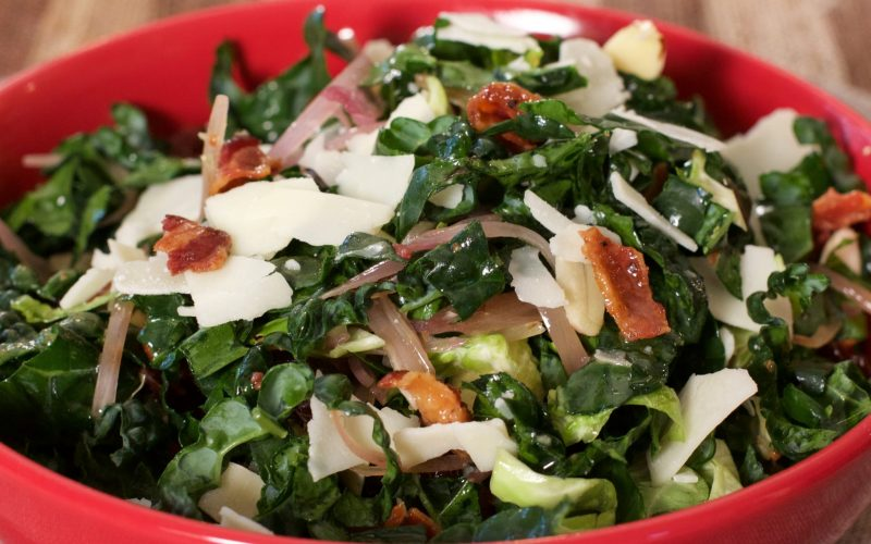 Bacon, Brussel and Kale Salad