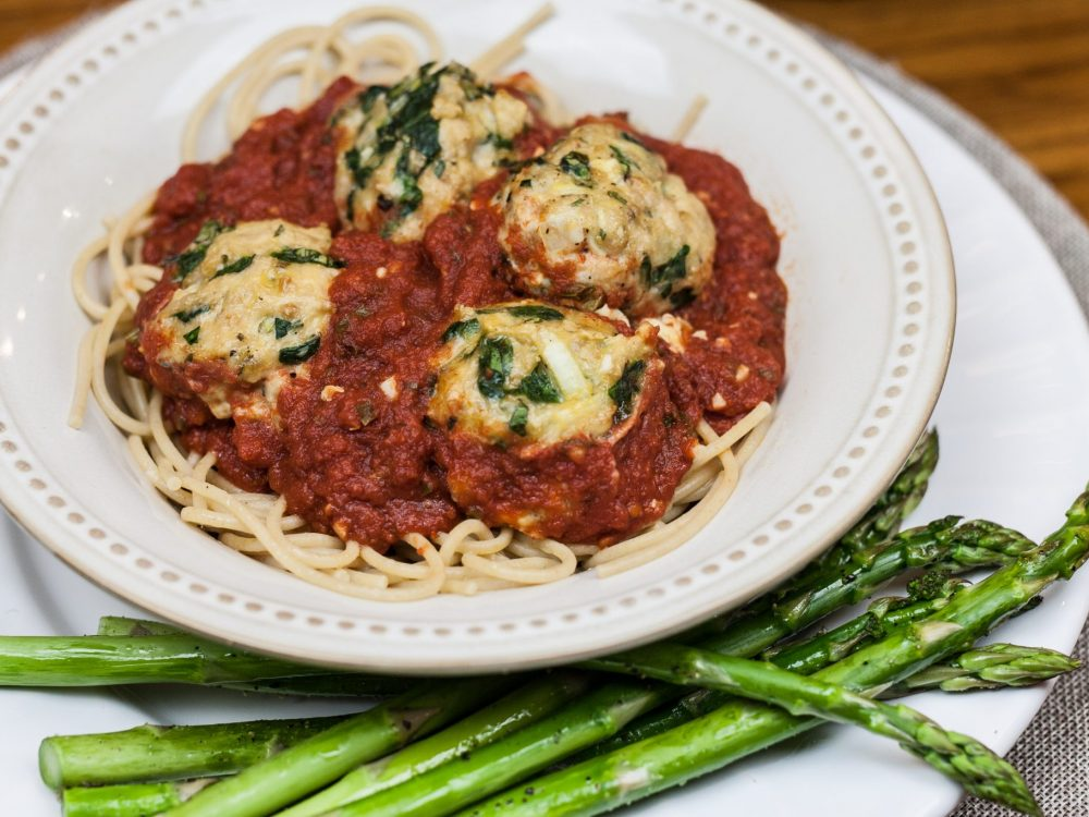 Chicken Spinach Meatballs