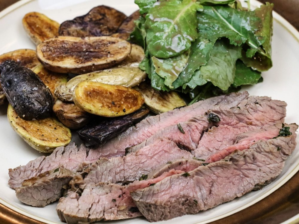 Flank Steak and Fingerlings