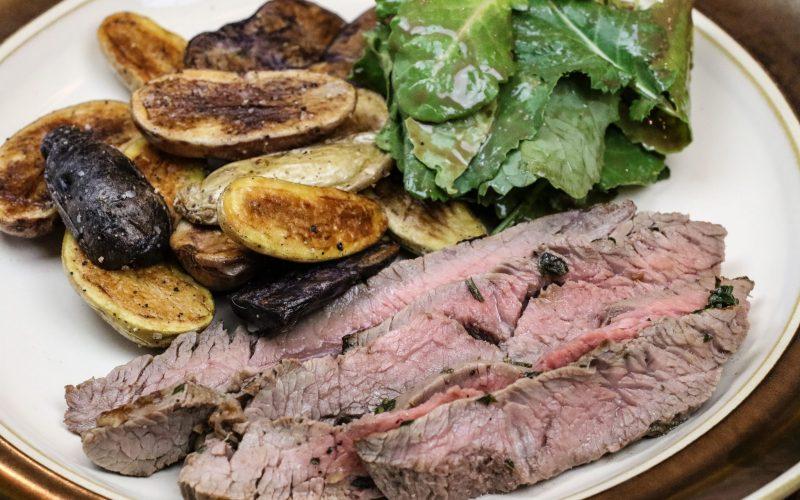 Flank Steak and Fingerlings