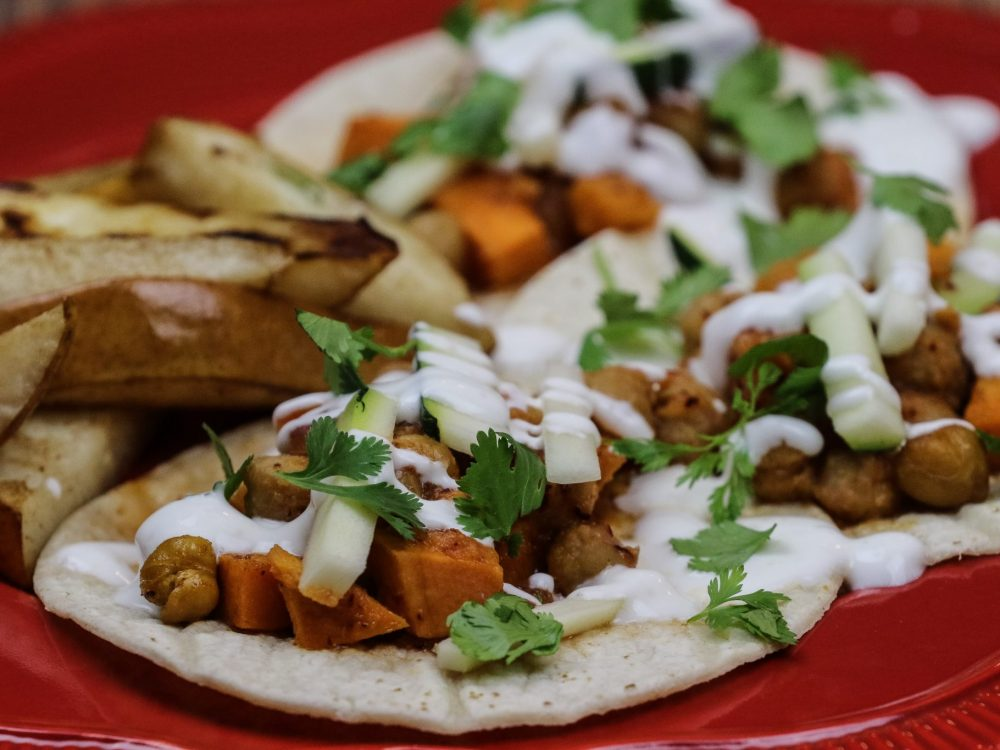 Moroccan Sweet Potato Tacos