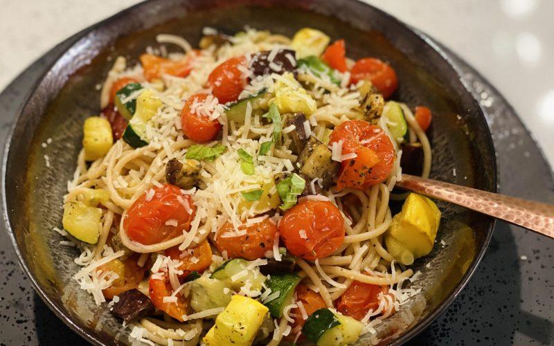 Roasted Ratatouille Spaghetti