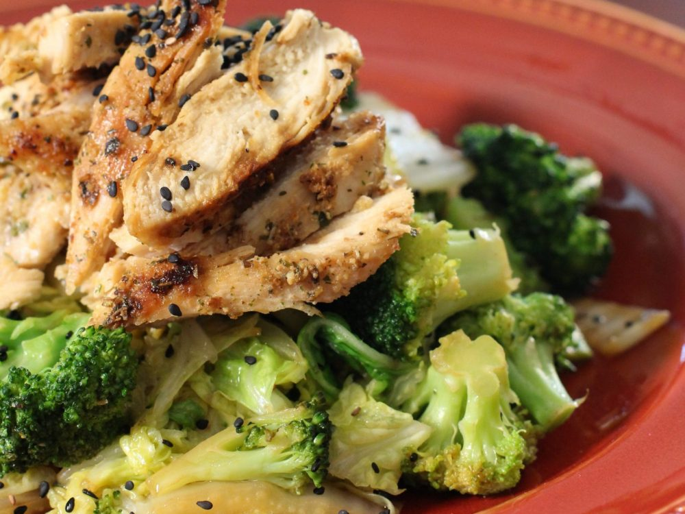 Sesame Napa Cabbage and Broccoli