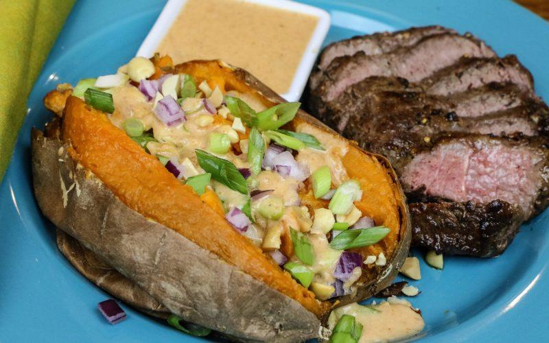 Steak and Thai Stuffed Sweet Potatoes