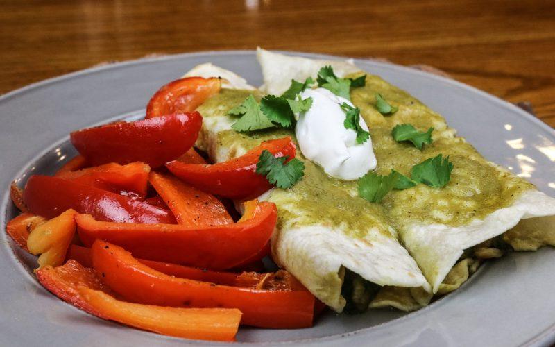 Veggie Enchiladas Verde