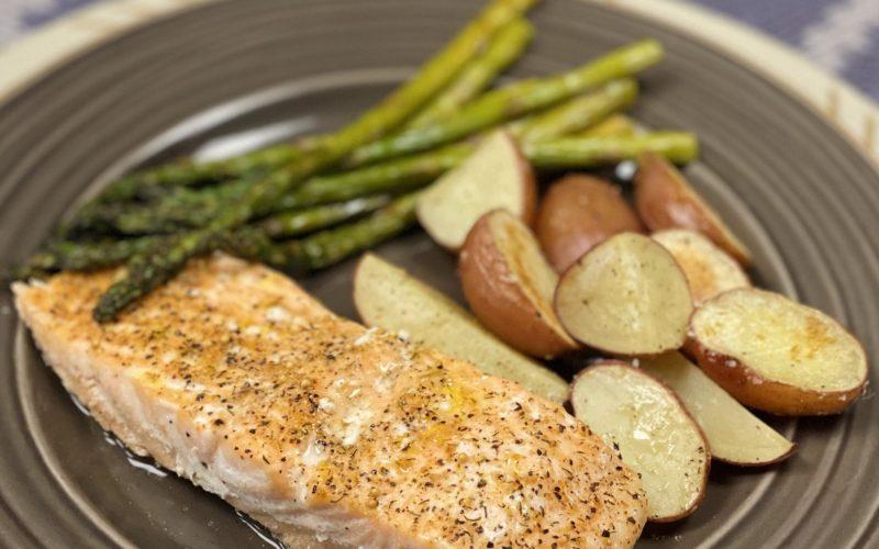 Salmon, Asparagus, & Potatoes