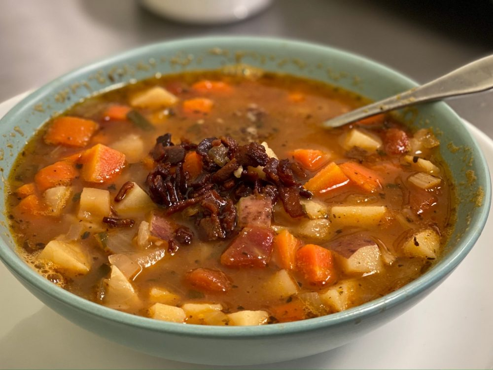 German Red Potato Soup with Bacon