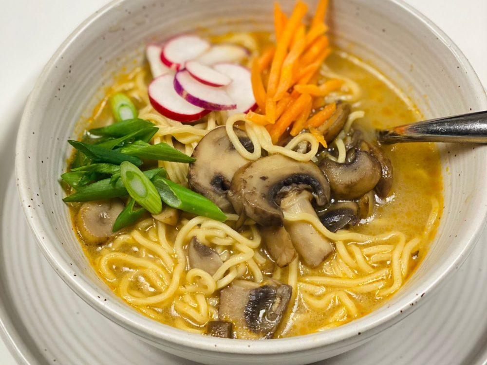 Creamy Vegan Mushroom Ramen