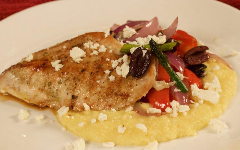 Mediterranean Chicken & Polenta