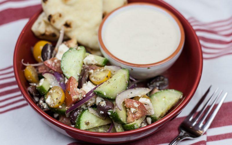 Greek Salad with Pita & Hummus