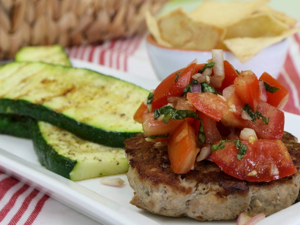 Naked Bruschetta Turkey Burger