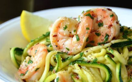 Shrimp Scampi with Zoodles