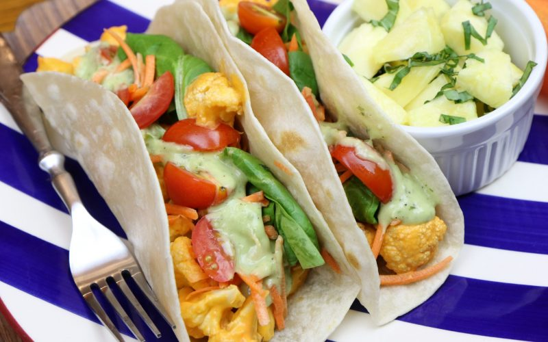 Buffalo Cauliflower Wraps
