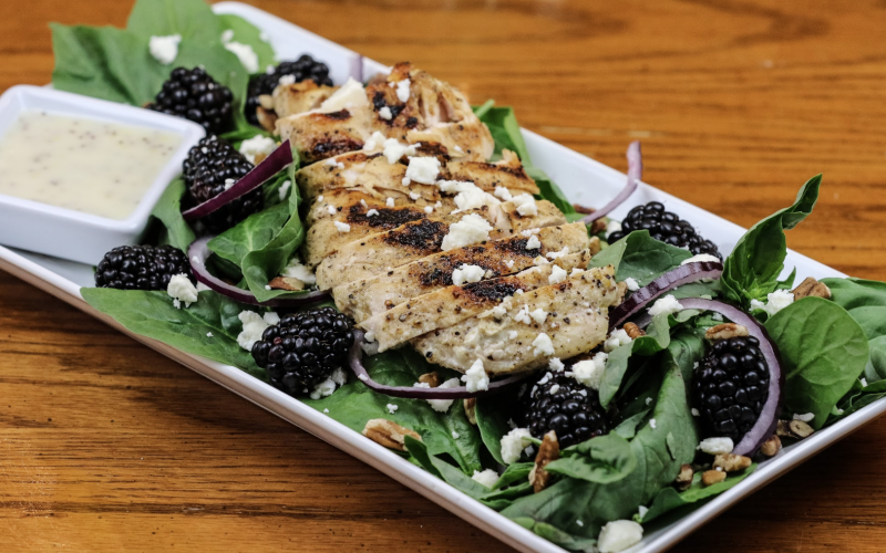 Blackberry Basil Salad with Chicken