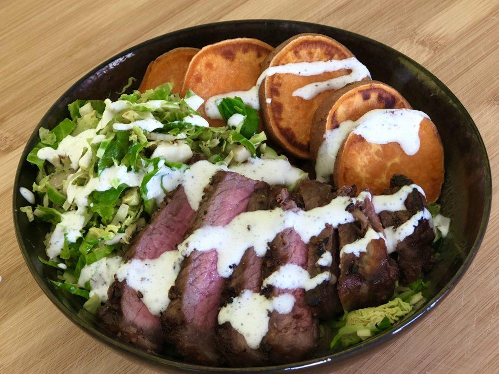 Steak & Shredded Brussel Bowl