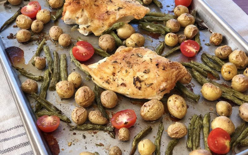 Sheet Pan Chicken & Tiny Potatoes