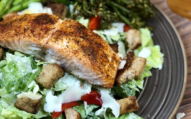 Salmon 'Caesar' Salad