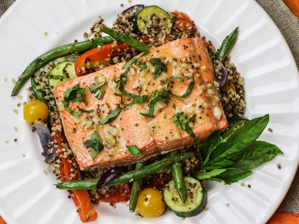 Salmon & Veggie Quinoa