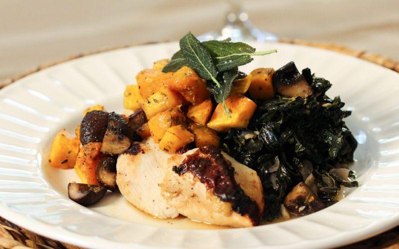 Brined Chicken & Butternut Squash