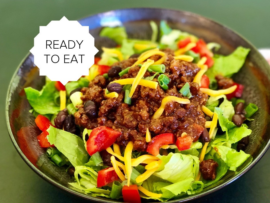 Ready-To-Eat: Beef Taco Salad