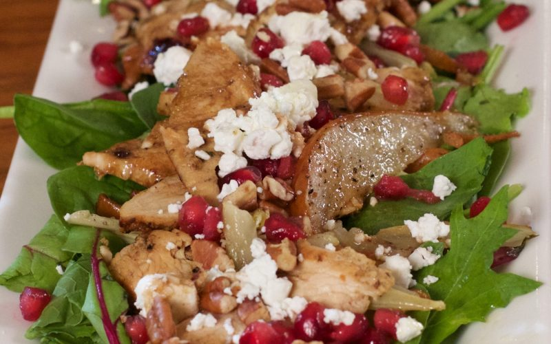 Roasted Pear & Fennel Salad with Herb Chicken
