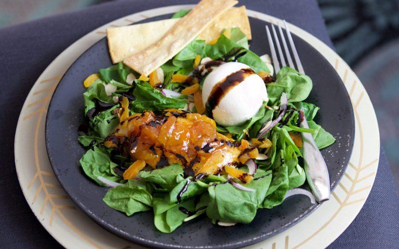 Apricot Chicken with Burrata