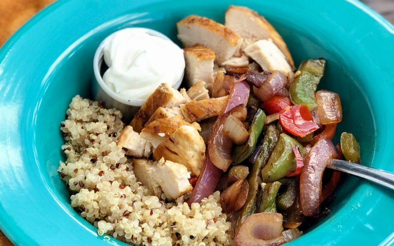 Ready-To-Eat: Chicken Fajita Quinoa Bowl